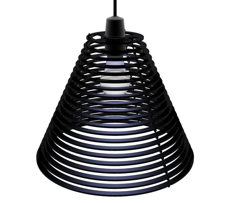 CMYKshade: A laser cut acrylic lampshade