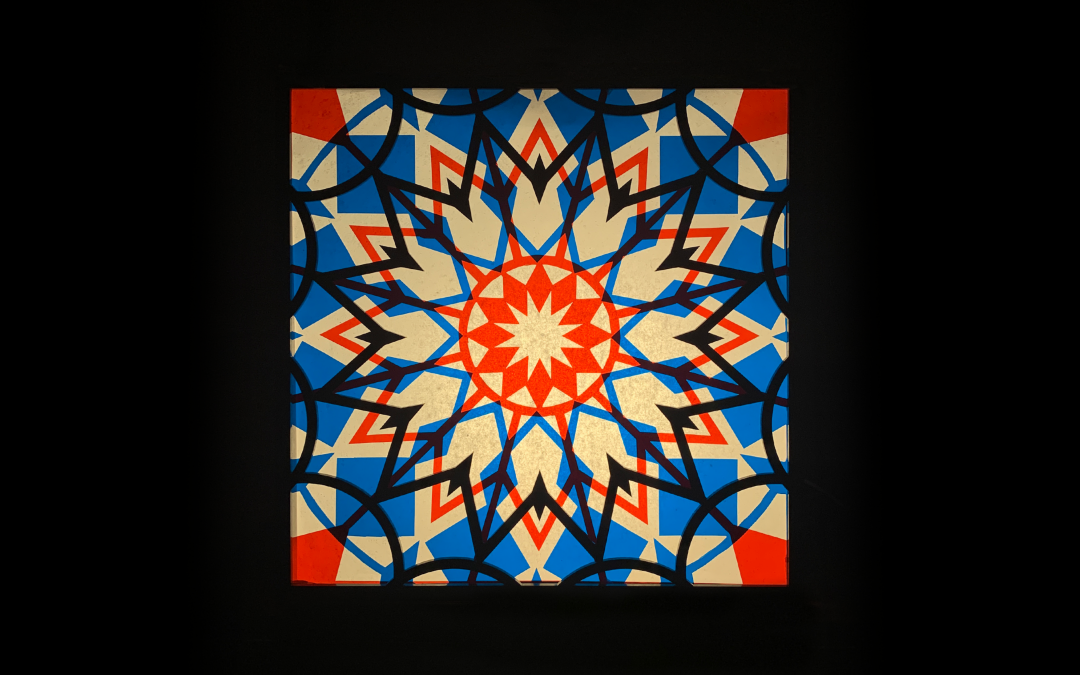Miniature stained glass design